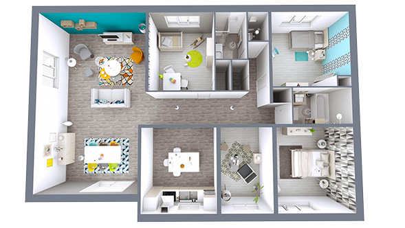 Logiciel d 39 architecture en ligne cedar architect plans for Plan 3d amenagement interieur